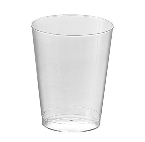 Kaya Collection - Disposable Round Hard Plastic Cups - Clear Tumblers 10oz - 1 Case (500 Cups) 10 Ounce Clear Tumbler