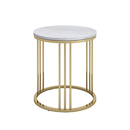 Round Coffee Table Sizes: Amazon.com: ZJⓇ Table Metal Round Table,Nordic Marble Side
