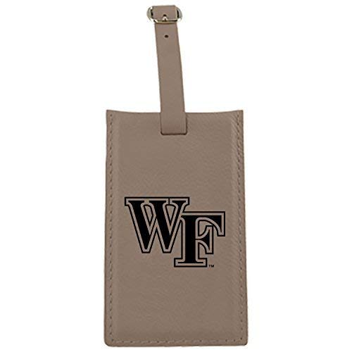Wake Forest University – Leatherette Luggage tag-tan   B013VYZQPU