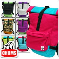 3d8e8674cd7c 【CHUMS】フラップデイパック スウェット×ナイロン/Flap Day Pack Sweat Nylon (ヘザーライム