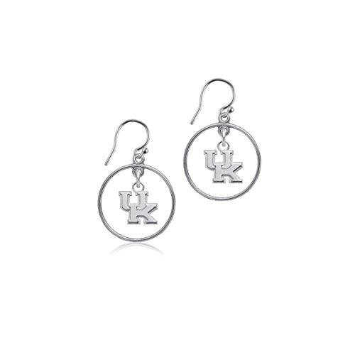 (University of Kentucky Wildcats UK Sterling Silver Jewelry by Dayna Designs (Open Drop Earrings))