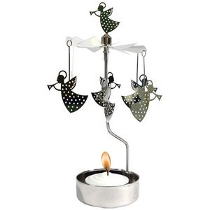 Trumpeting Angel Rotary (Metal Angels Candle Holder)