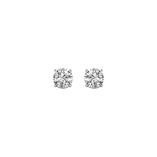 IGI Certified De Couer White Gold 1/4ct TDW Diamond Stud Ear