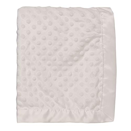 - Baby Starters Textured Dot Blanket with Satin Trim, White