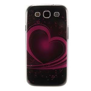 Modelo del corazón del arte de la cubierta del caso plástico duro de protección trasera para Samsung Galaxy S3 I9300