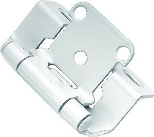 Wrap Around Hinge - Wrap Around Pair Door Hinges (Set of 2) Finish: White Powder Coat