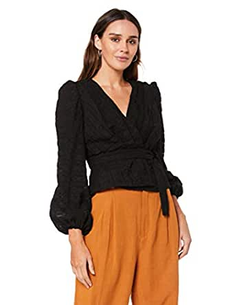 Finders Keepers Women's Sofia LS TOP, Black, Extra Small