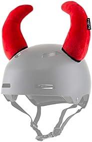 ParaWild Bison Helmet Accessories w/Sticky Hook & Loop Fastener Adhesive (Helmet not Included), Fun Red De
