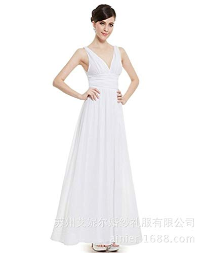 Personnalité Soirée costumes De Nuptiale Tempérament Mode Yuezhang Des Robe White Sexy Femmes Simple Mariage ZTukOiPX