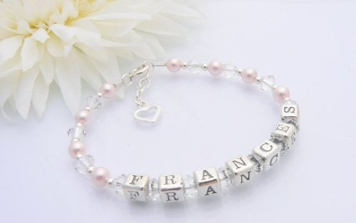 Open Heart Christening Name Bracelet Occasions Emporium