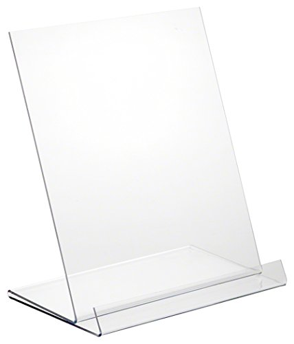 Plymor Brand Clear Acrylic Angled Flat Display Easel with 1