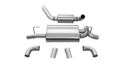 Corsa Performance 21015 Touring Axle-Back Exhaust System Dual Rear Exit 2.5 in. Dia. Incl. Muffler Assy/Front Pipe/Hardware/Dual 3.5 in. Turn-Out Polished Tips Touring Axle-Back Exhaust System