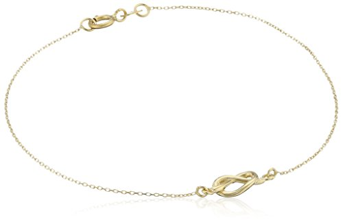 14k Yellow Gold Love Knot Delicate Bracelet, ()