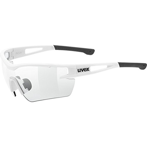 Uvex Sportstyle 116 Photochromic Sunglasses White/Vario Smoke (S1-S3), One Size - Men's (Uvex Sportstyle)