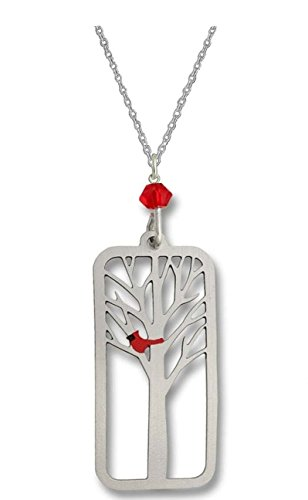 Sienna Sky Cardinal in Tree Necklace N1614