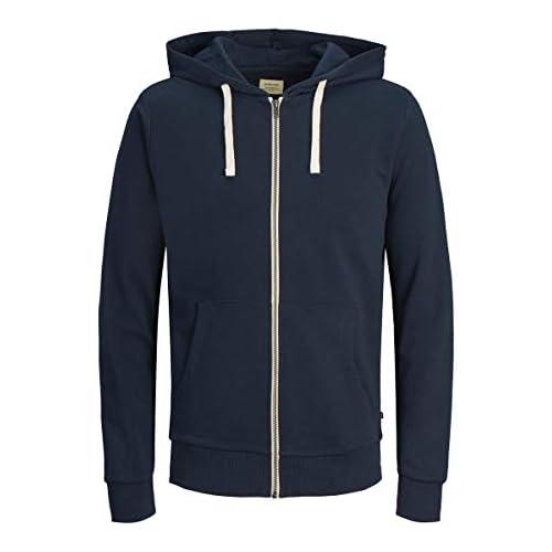 chollos oferta descuentos barato Jack Jones Jjeholmen Sweat Zip Hood Noos Sudadera Azul Navy Blazer Large para Hombre