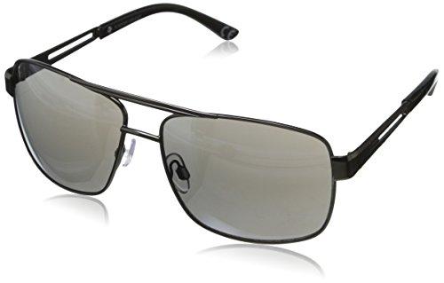 Foster Grant Men's Navigation wayshape Sunglasses, Gunmetal, 59 - Foster Wayfarer Grant Polarized Sunglasses