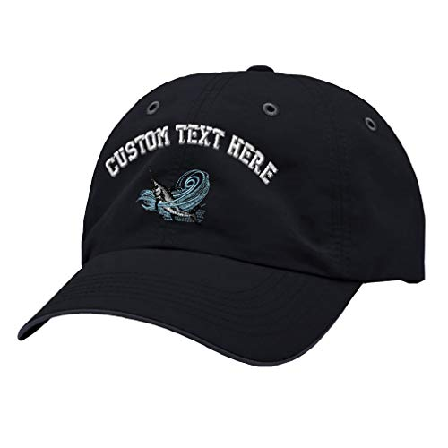 Custom Text Embroidered Sport Fishing Deep Sea Fish Unisex Adult Hook & Loop Polyester Richardson Water Repellent Adjustable Cap Unstructured Hat ()