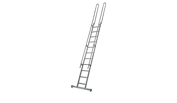Escalera de aluminio para altillos + 2 mancorrenti laterales + 2 mancorrenti sporgenti estándar: Amazon.es: Bricolaje y herramientas