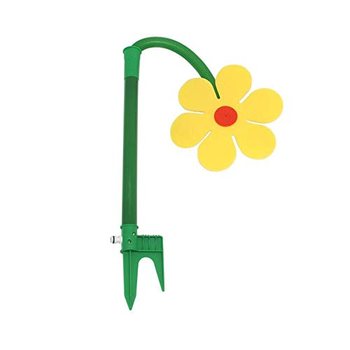 preliked Garden Lawn Sprinkler Irrigation, Crazy Daisies Weird Flowers, Summer Children's Water Toys Yellow