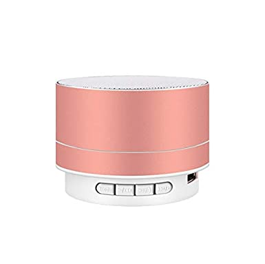 Amazon.com: PinShang Wirelesss LED Glowing Bluetooth Receiver Hands-Free Music Player Metal Bluetooth Speaker Gold: Cell Phones & Accessories