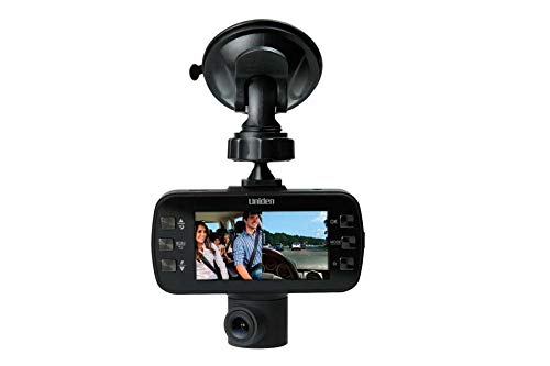Uniden DC115 Dash Camera Featuring Dual Cameras, 120 Degree Wide Angle View, 1080p 30fps, and G-Sensor (Non-Retail Packaging)