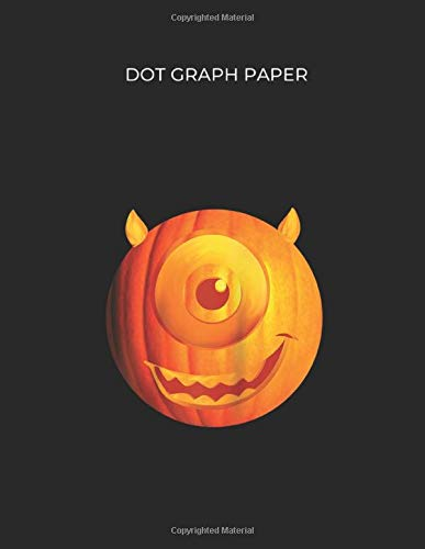 Dot Graph Paper Disney Pixar Monsters Inc Mike Wazowski Pumpkin Halloween Raglan Baseball Dot Graph Paper Notebook White Paper Blank Journal With 109 Pages For Kids Or Men And Women Softball