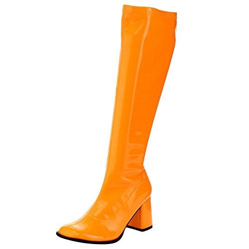 Funtasma - Botas mujer Naranja - NEON ORANGE STR PAT