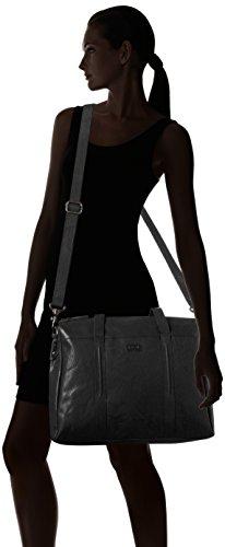 Spikes & Sparrow Zip Bag - Carteras de mano con asa Mujer Negro (Black)