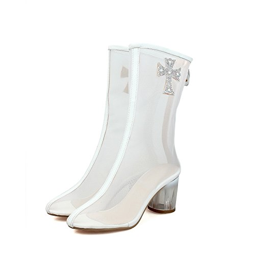 Stivaletto Stile A Fodera Bianco Secchio Balamasa Antitraccia Freddo Donna In Asl05043 Uretano ZqAxSfTnx