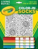 Kid's Crayola Color-In Socks - Includes 1 Pair Of Socks And 4 Fabric Markers - Candy Design]()