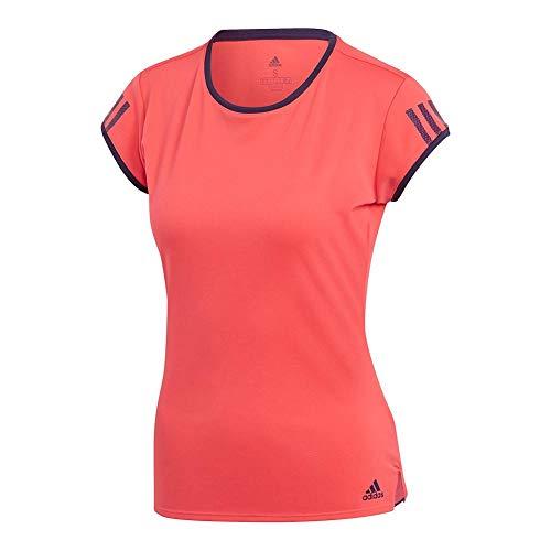 - adidas Women's Club 3-Stripes Tee Shock Red Large