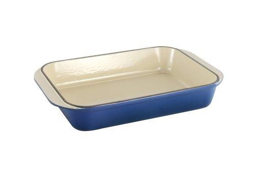 Le Creuset Enameled Cast-Iron 15-3/4-by-10-3/4-Inch Rectangular Baking Dish, Cobalt Blue