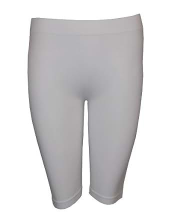 Marca Shop Fine 43,18 cm Leggings sin costuras de color blanco