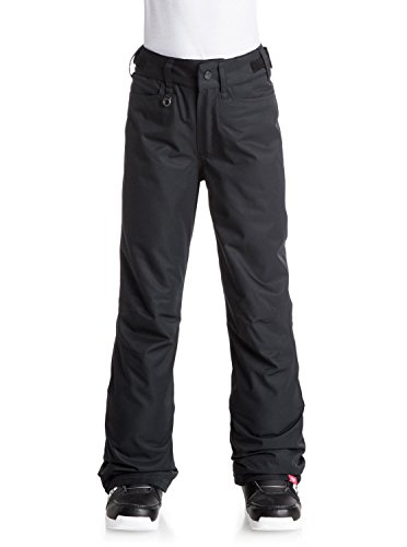 Roxy Big Girls' Backyard Snow Pant, True Black, 10/M (Roxy Snow Pants)