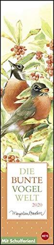 Marjolein Bastin  Die Bunte Vogelwelt. Wandkalender 2020. Monatskalendarium. Spiralbindung. Format 11 X 49 Cm