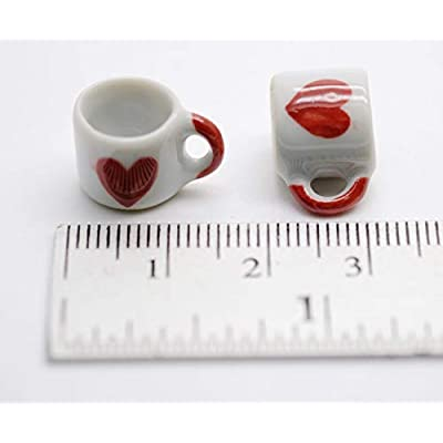 20 Darling Coffee Mug Tea Cup Dollhouse Miniatures Food Kitchen by 1 Shop for You No17: Toys & Games