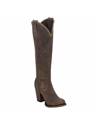 Lane Western Boots Womens Plain Jane Tall Oval Toe Braided LB0356A Brown 5LSolaSal