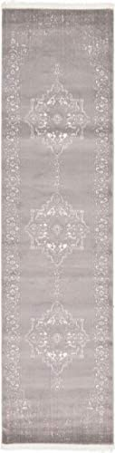 Unique Loom New Classical Collection Traditional Distressed Vintage Classic Light Gray Runner Rug 2 7 x 10 0