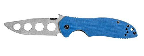 "Kershaw Emerson's E-Train Pocket Knife (6034TRAINER) Specially Designed Unsharpened 3.2"" Blade and Patented Wave Shape Opening Feature Helps New Users Develop Skill, Precision and Tactical Confidence"