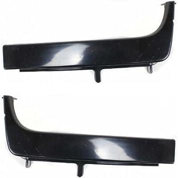 New Bumper Face Bar Ends Set of 2 Front Driver /& Passenger Side LH RH Pair
