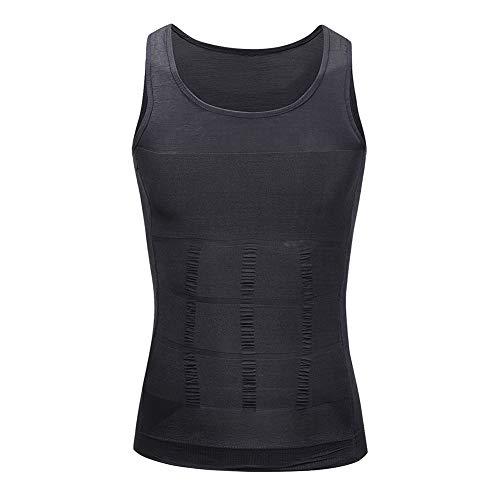 Mens Slimming Body Tummy Belly Shaper Vest Underwear to Hide Gynecomastia Moobs Gray