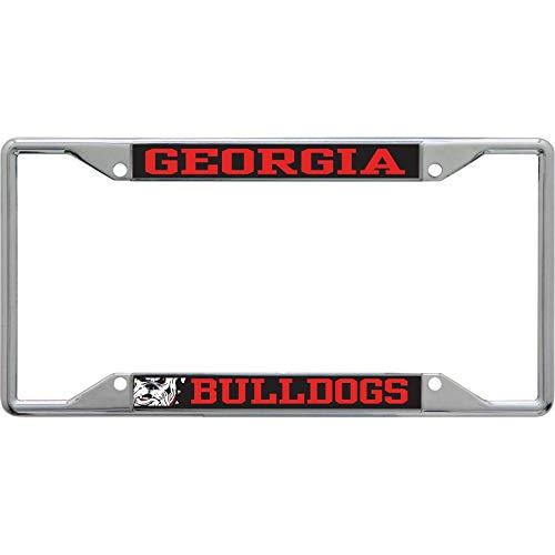 Georgia Bulldogs Acrylic Insert Carbon Bulldog Laser Chrome 3-D License Plate Frame Stockdale