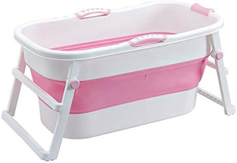 大人の赤ちゃん幼児のためのポータブルバスタブのホーム折り畳み式のバスタブ、バスタブでシャワーストール温水SPAバスタブ (Color : Pink)