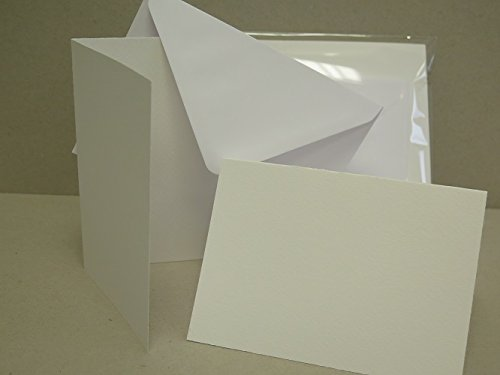 20 x Single Fold A6 Watercolour Greeting Cards (Smooth Textured) 300gsm c/w 20 White C6 Envs AM537 Jackdaw Express