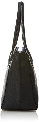 Lola Casademunt Christy, Bolso Baguette para Mujer, Negro (Black), 17x29.5x56 cm (W x H x L)