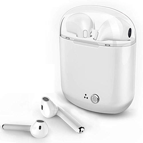 Wireless Earbuds Bluetooth Headphones with Mic Hands -Free Calls for Sports & Workout in Ear Earphones with Portable Charging Case for iPhone X 8 7 6 Plu, Samsung Galaxy S7 - Mic Headphones Phone With Apple I