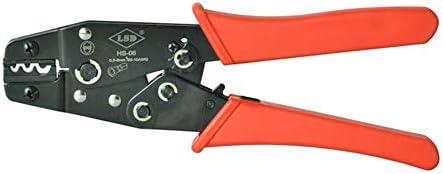 ケーブルカッター ハンド圧着ペンチ 1.25-6mm² 電気圧着工具 非絶縁端子 コネクタプライヤー 手動ケーブルカッター