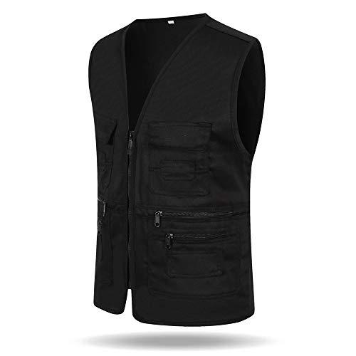 Manches De Volontaire Noir Gilet Vêtements Xfentech Coton En Décontractée Femmes Hommes Sans Travail Veste Polyester A1v58wq