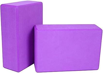 ValueHall 2 Pack Yoga Bloques de Alta Densidad EVA Foam Bloques ...